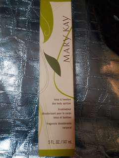 Authentic Mary Kay lotus & bamboo deo body spritzer