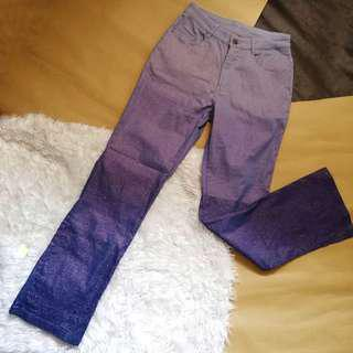 Vintage retro bellbottom ombre sparkly pants