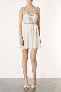 Preloved Topshop embellished strap dress