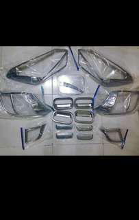 GARNISH CHROME SET TOYOTA WIGO 2017