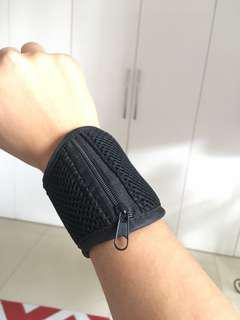 Wristband with pouch