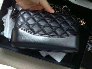 Chanel gabrielle woc black