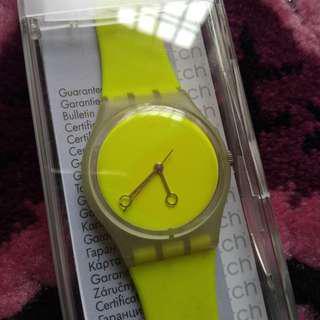 Swatch neon unisex watch