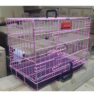 Pet Crates EL-1.5 Foldable Dog Cage w/ Plastic tray