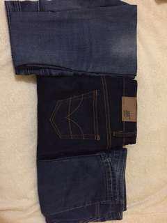 Jeans dark&light blue