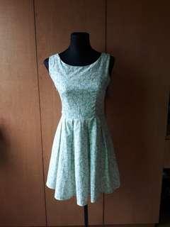 Mint green floral dress