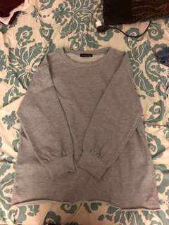 White fox boutique grey jumper