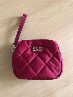 💗 SKII padded wristlet / toiletry pouch