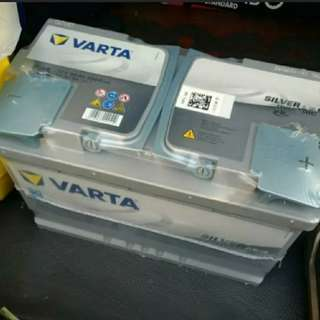 Brand new VARTA Silver Dynamic AGM German 12v car battery for Mercedes & continental cars in singapore w 1 year AGENT WARRANTY and free local delivery & jumpstarting - see prices inside