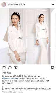 BNWT White Series Raelyn Royal Kurung by Jannahnoe.official