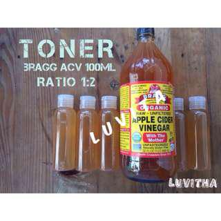 BRAGG Apple Cider Vinegar TONER Sudah diCAMPUR 100ml