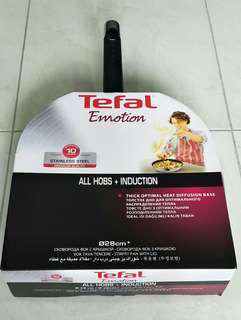 Brand New Sealed Tefal Emotion Stainless Steel Wokpan 28cm with lid