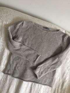 Grey AE sweater