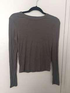 Garage Ribbed Long Sleeve