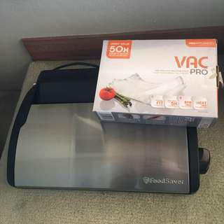 Food saver with vac pro bags