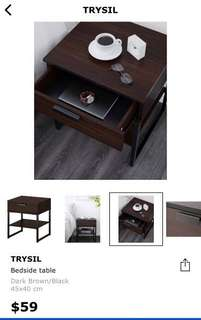 Ikea trysil Side table in black-brown