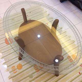 Glass Coffee Table (Oval)