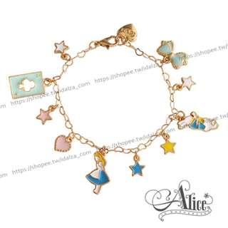 Idalza* 現貨 甜美 日系 飾品 愛麗絲 兔兔 夢遊仙境 造型 手鍊 手鏈 手環 (特價)