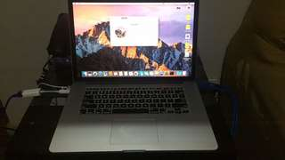 MacBook Pro Mid2015 15in QuadCore i7 2.5Ghz or 2.8Ghz 16G Ram 512G SSD Radeon R9 2048mb Video