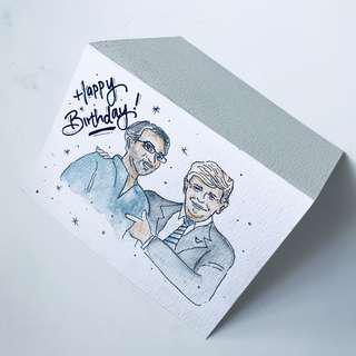 Customised hand painted cards