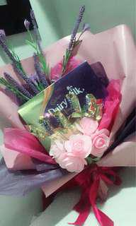 Flower and choc bouquet