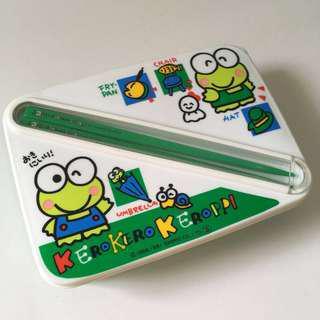 (包郵) Keroppi 飯盒 便當盒 連筷子