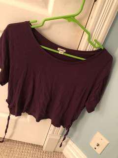 Purple tee shirt from garage