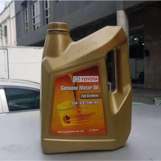 100% Original Toyota Genuine  Engine oil FULLY