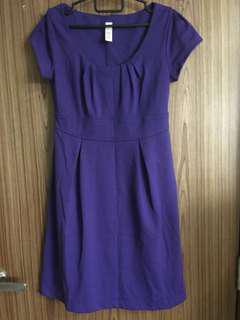 Merona purple work dress
