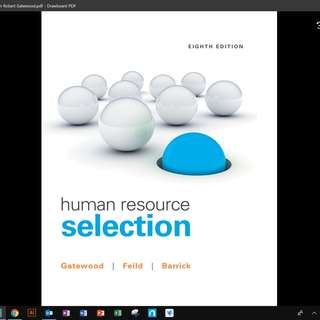 HP3802 Personnel Psychology PDF Textbook AY18/19