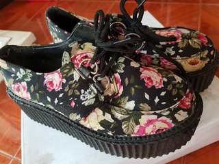 High platform Floral Shoes