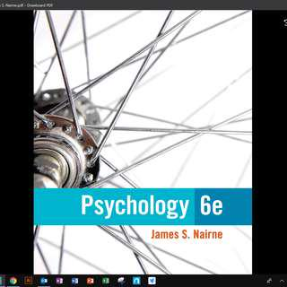 CS2056 Psychology and Communication PDF textbook AY18/19