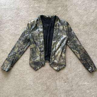 H&M full sequined cropped blazer