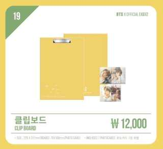 Loose Item Clipboard Photocard  오늘, 2018 BTS EXHIBITION Official MD