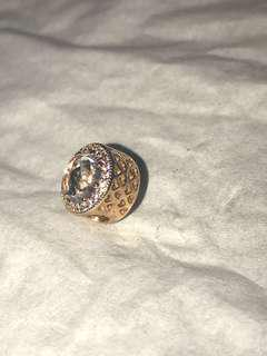 pandora charm rose gold diamond