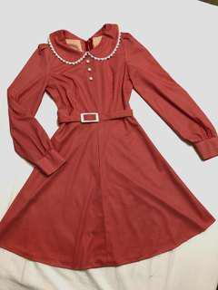 🚚 國外購回不撞衣50年代古著紅格子洋裝