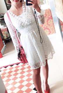 🚚 絕美氣質蕾絲洋裝(質感好不會刺刺的)