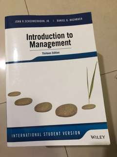 Introduction To Management 13e