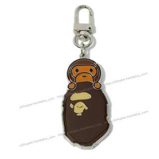 Idalza* 現貨 APE 猿人頭 造型 簡約 汽車 機車 鑰匙 鑰匙圈 鑰匙扣 包包 吊墜 掛飾 (特價)