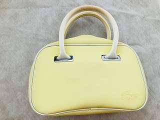 Lacoste Yellow Mini Bowling Bag