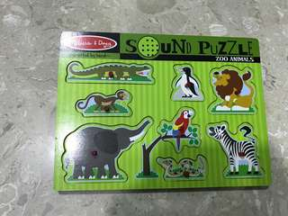 Melissa & Doug Wooden Puzzle with sounds
