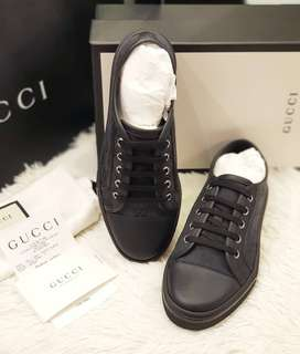BRANDNEW GUCCI T. ORIGINAL GG PIOMBO NERO s37, 25cm ❤BIG SALE P23k ONLY❤ With paperbag dustbag card box and gift receipt Swipe for detailed pics