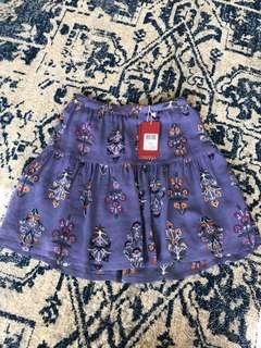 Tiger lily hydra skirt cornflower
