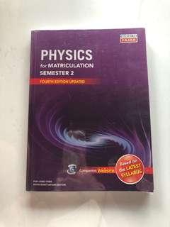 Physics for matriculation Semester 2