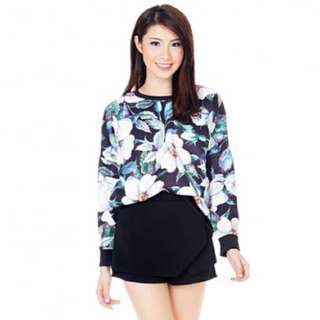 the closet lover florals neoprene pullover