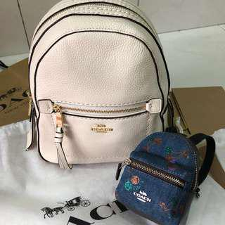 BNWT Coach F30530 WHITE mini 3 way sling/ backpack