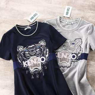 Sold out!! Tiger Head Embroidery T-shirt Dress