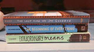 Book Bundle (The Beginning of Everything, Extraordinary Means, Last Time We Say Goodbye)