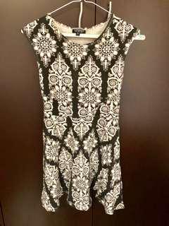 Topshop black and white sun dress