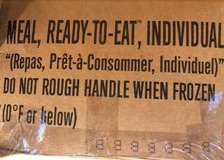 US Army MRE (meals ready to eat)